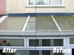Conservatory Roof before after