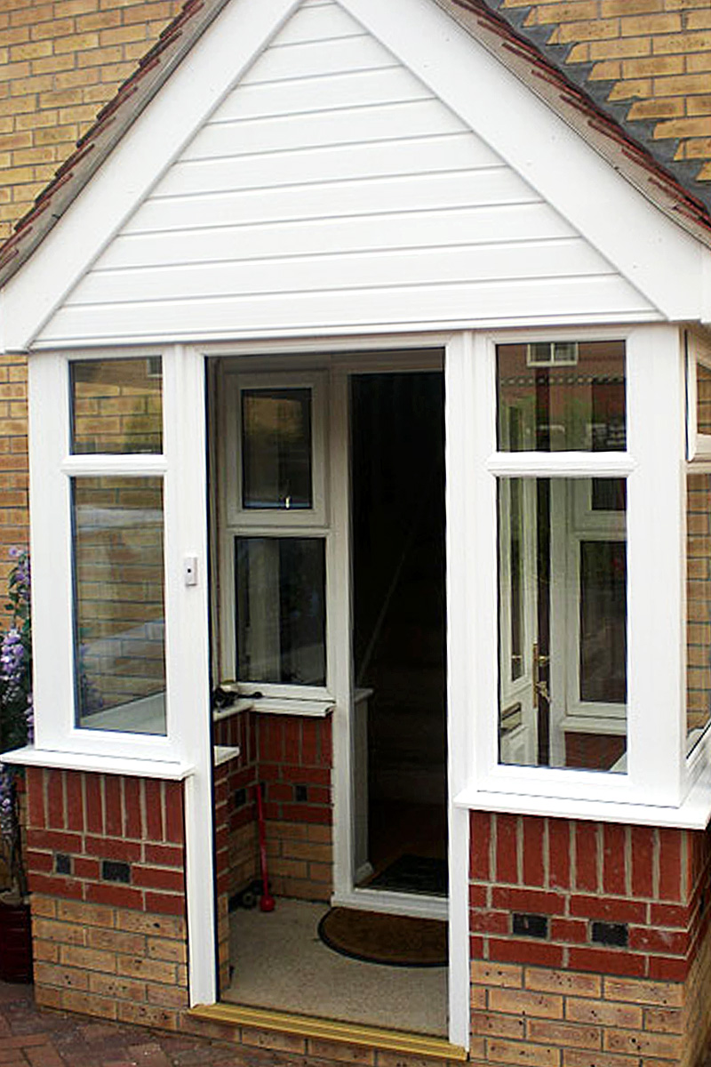 Conservatories porches clearview lincoln ltd for Front porch roof kits