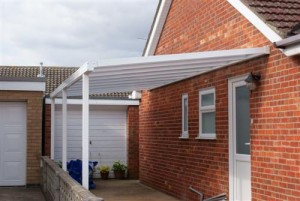 Picture of an example of a car port - canopy